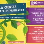 """CONICYT invita a """"La Ciencia Florece en Primavera"""": conversaciones con científicos"""