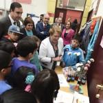 Presidenta Michelle Bachelet visita campamento científico Explora de Conicyt