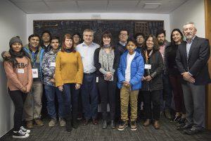 Ganadores del Congreso Regional de Arica y Parinacota realizan pasantía científica en Santiago