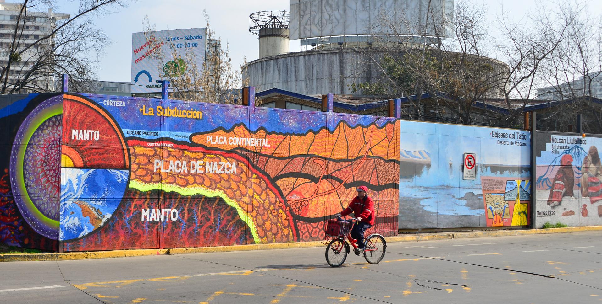 Mural Que Une Arte Y Ciencia Es Inaugurado En Nunoa Fondap