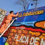 Mural que une arte y ciencia es inaugurado en Ñuñoa