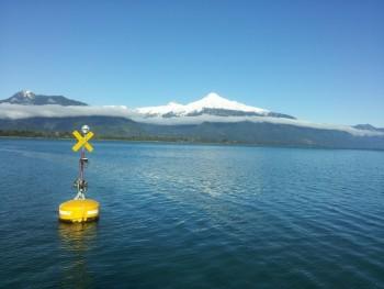 Boya oceanográfica en el Fiordo Reloncavi detecta señal de la erupción del Volcán Calbuco