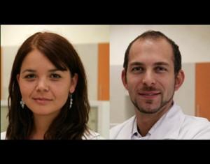 Los investigadores de la Universidad de Los Andes y de C4C Francisca Alcayaga y Maroun Khoury.