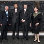 Gabriel Rodríguez, embajador director de la Dirección de Energía, Ciencia y Tecnología e Innovación; Francisco Brieva, presidente de CONICYT; Ciarán Devane, CEO del British Council; Fiona Clouder, embajadora del Reino Unido en Chile.