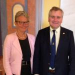 Presidente del Consejo de CONICYT se reúne con la secretaria de Estado para la Educación Superior e Investigación de Suecia