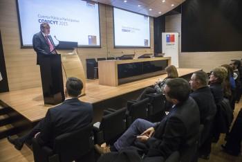 Cuenta Pública 2015 de CONICYT da a conocer logros y desafíos de la gestión institucional