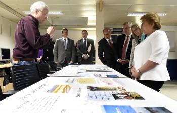 Presidenta Bachelet visita barco de investigación científica que analiza la ocurrencia de terremotos y tsunamis
